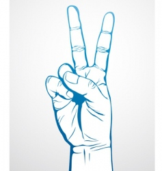 victory sign vector image vector image