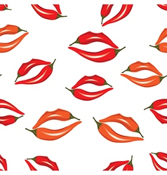 Woman lips as pepper vector image vector image