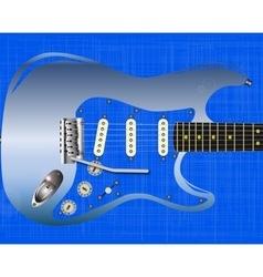 Blue Grunge Guitar vector image vector image