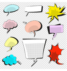 Comic icons speech bubble vector