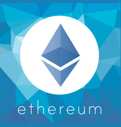 ethereum cripto currency logo vector image vector image