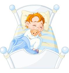 little boy sleeping vector image vector image