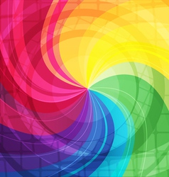 Rainbow bright background with rays6 vector image vector image