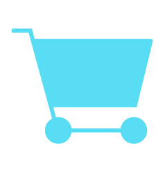 shopping cart silhouette icon minimal pictogram vector image