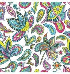 Summer Pattern with Indian Motifs vector image
