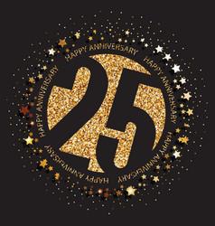 25th birthday logo vector