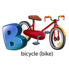 A letter B for bicycle vector