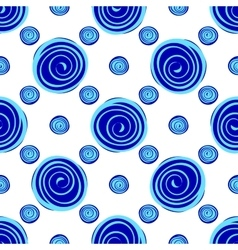 Abstract background blue circles seamless pattern vector