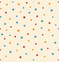 abstract starry seamless pattern on beige vector image