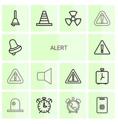 Alert icons vector