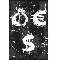 Bag dollar euro vector
