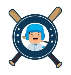 Baseball crossed bats icons vector