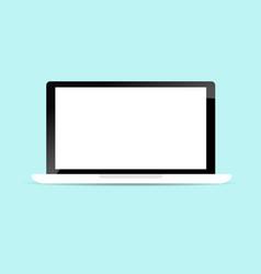 Blank display laptop background vector