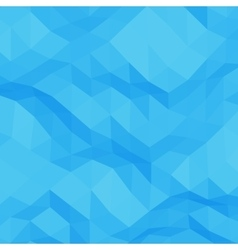 Blue abstract triangular background vector image