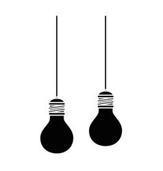 bulbs light hanging icon vector image