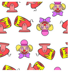 Circus theme element doodle style vector