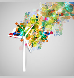 colorful wind generator illsutration vector image