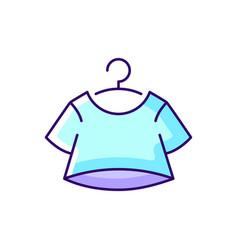 crop top blue rgb color icon vector image