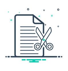 Cut document vector