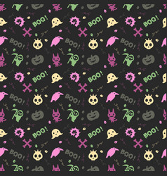 Cute halloween pattern background vector