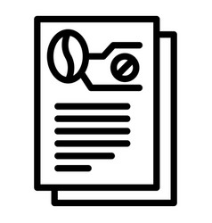 Decaf report icon outline style vector