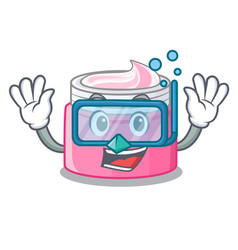 Diving face cream in the cartoon form vector