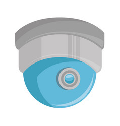 dome security cam isolated icon vector image