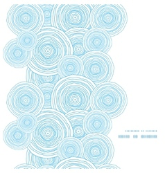 Doodle circle water texture vertical frame vector