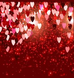 Elegant background with hearts valentine s vector