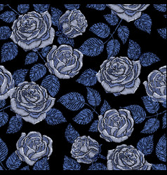 embroidery seamless pattern texture wallpaper vector image