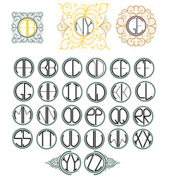 English font with monogram vector