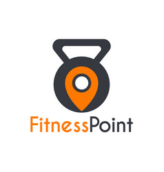 fitness gym point place logo template vector image