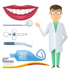 Flat dental icon vector