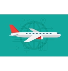 flying airplane sign vector image