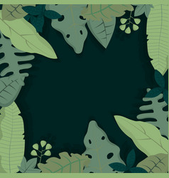 forest blank frame vector image