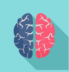 genius brain icon flat style vector image