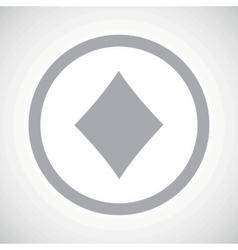 Grey diamonds sign icon vector