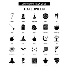 Halloween glyph icon set vector