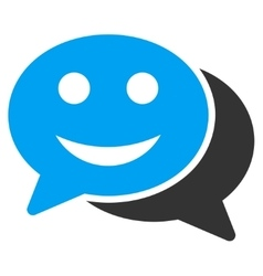 Happy Chat Icon vector image