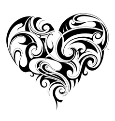 Heart shape tattoo vector image