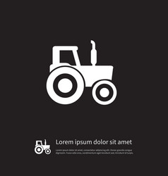 Isolated farming machinery icon bulldozer vector
