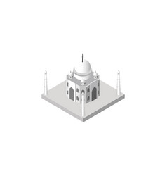 isolated taj mahal isometric india mosque vector image