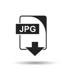 jpg icon flat jpg download sign symbol with vector image