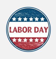 Labor day usa pin vector