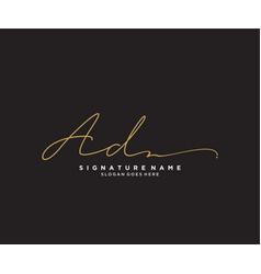 Letter ad signature logo template vector