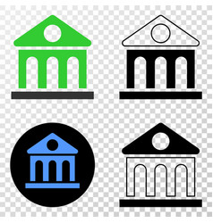 library building eps icon with contour vector image
