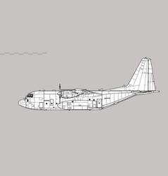 Lockheed c-130 hercules vector