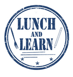 Lunch and learn grunge rubber stamp vector