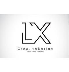 Lx l x letter logo design in black colors vector