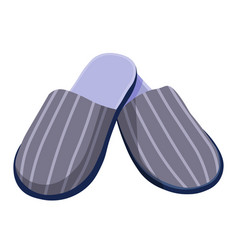 Male slippers home shoes or footwear with striped vector